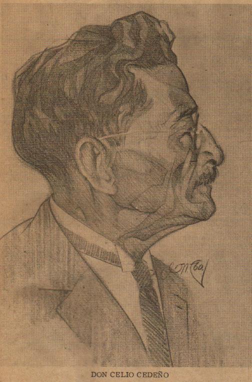 -- Retrato de Don Celio Cedeño, por el pintor Juan Manuel Cedeño --