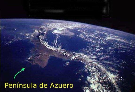 -- Foto Satelital de la Península de Azuero --
